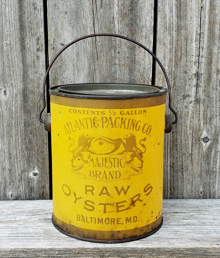 MARYLAND CHIEF YELLOW TIN CAN LABEL 1940/'s ORIGINAL BALTIMORE MARYLAND A INDIAN